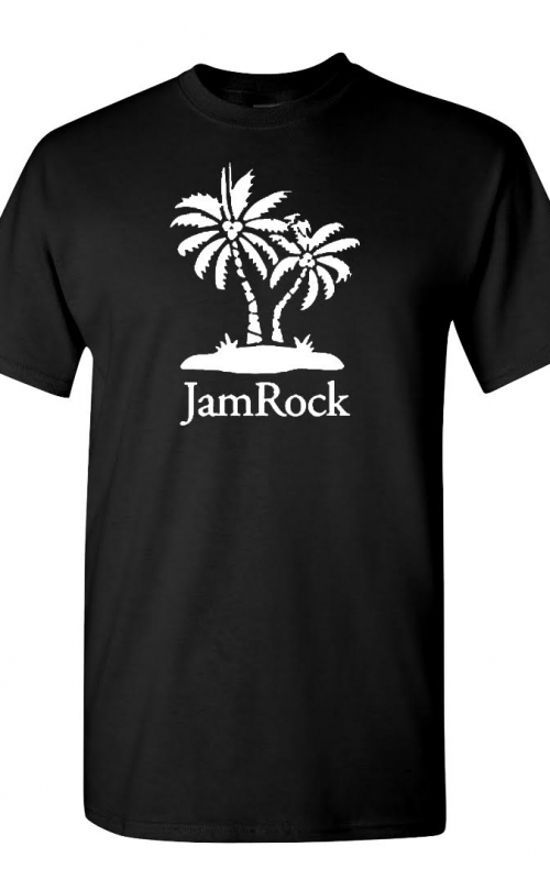 Jamrock Palm Tree Black Tee